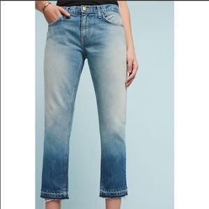 Current/Elliot The Cropped Straight Ombré Jeans 29